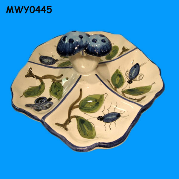 Decorated Condiment Plate