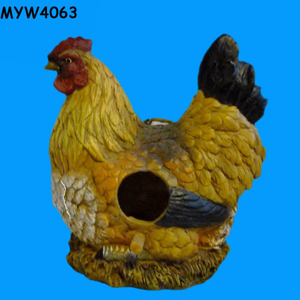 Chicken shape Bird House