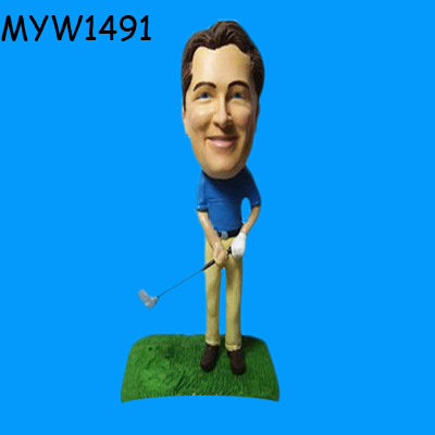 Resin Golf Bobble Head