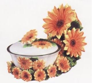sunflower decorative candy dish