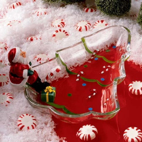 santa christmas decorative candy dish