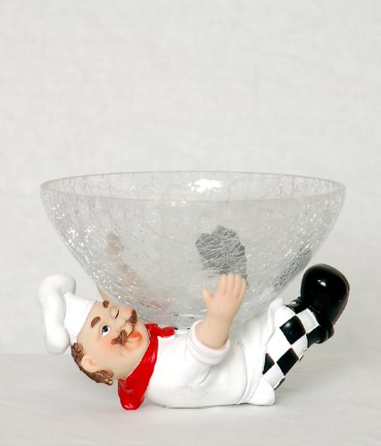 chef  with candy bowl holder