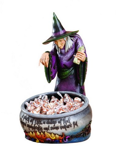 halloween witch decorative candy dish