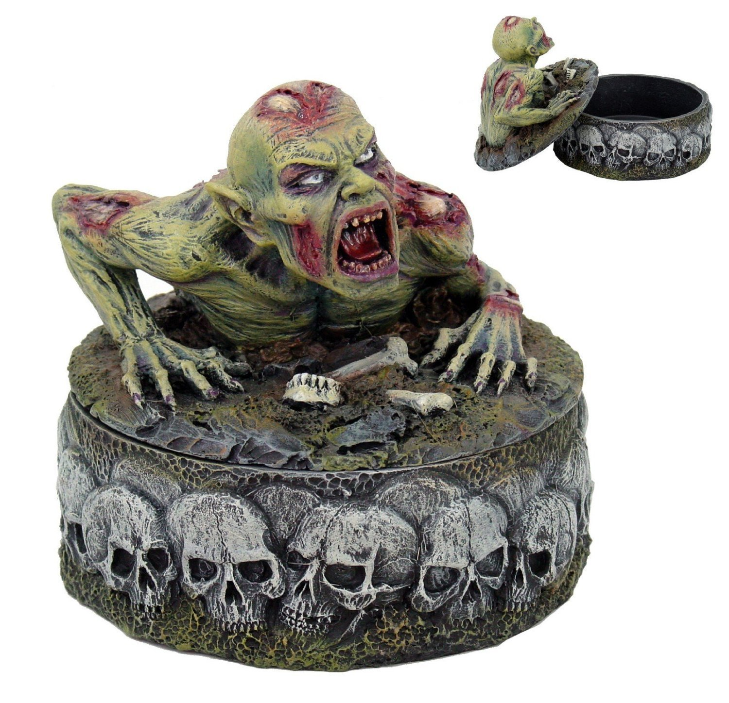 Zombie with Skull candy dish gifts